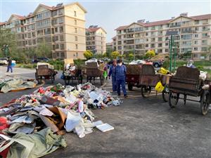 紫轩二期南门垃圾二次落地