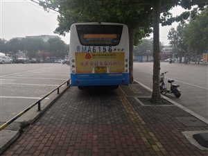 公交车停的是个地方么?