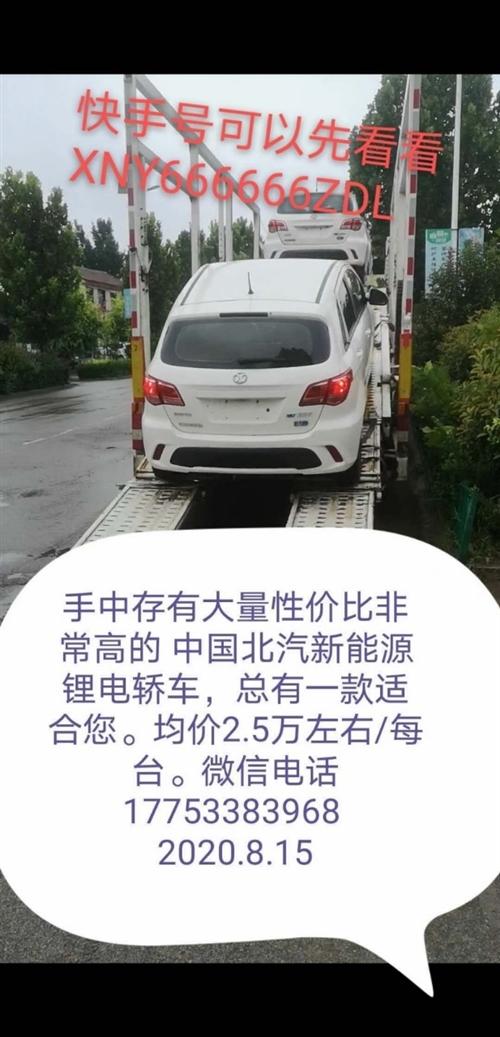 库中存有大量中国北汽新能源锂电动轿车