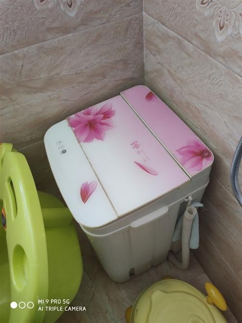 单桶半自动洗衣机,给2岁孩子洗衣服专用。