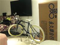 买了1年不到,,上海永久牌自行车经典通勤车,买时候600块,24寸,骑了2次,99新,配件全送,车身...