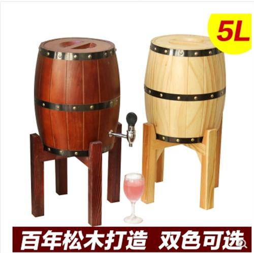 酒炮酒桶木桶木质带龙头不锈钢内胆木桶扎啤木桶扎啤… 颜色分类碳烧色3L全铜龙头不锈钢内胆