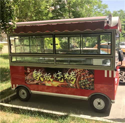 出售闲置烧烤餐车一台,车内货架炉灶齐全,如有需要,电话详谈