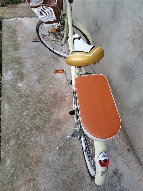 閑置一輛自行車、買來只騎過兩次 9.8 成新、配了車鎖和手電筒,逛街 買菜  練技術不二之選