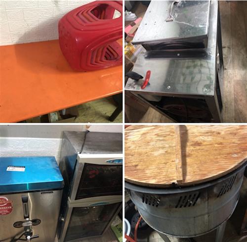 出售饭店早餐店二手桌椅 和面机 消毒柜 煎饼炉 9.9成新热水器 需要请联系15556072897