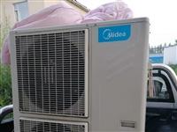 五匹美的风管机冷暖空调。一共有五台。