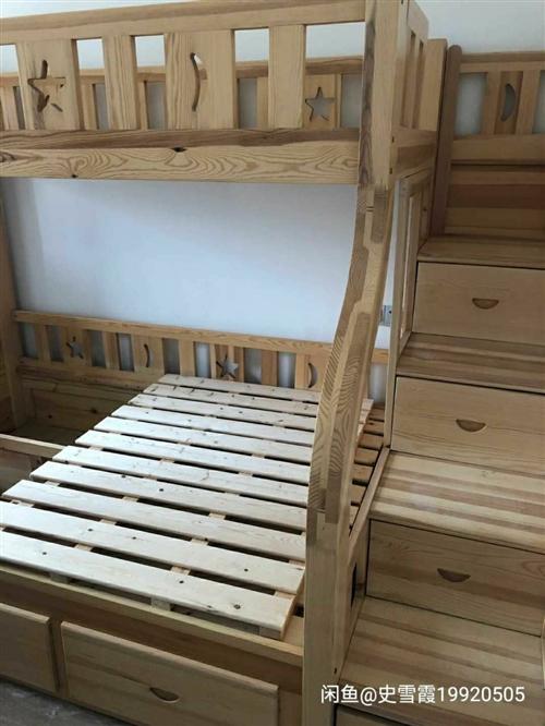 实木上下床,上铺1.1mx2m下铺1.35mx2m带楼梯,**的料,不还价,可出外地