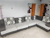 布艺沙发,2+1+2,3.4米*1.68米,沙发体、垫、靠背、抱枕可拆洗,价格可优惠~