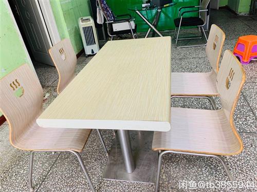 兩張桌子,6個凳子低價處理 桌子100元,凳子30