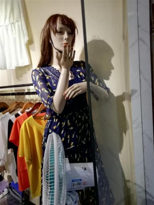 女装店到期,货架,模特,衣架处理了。有意者可到店看货。模特,衣架80元\个,买成200多的。衣架只要...