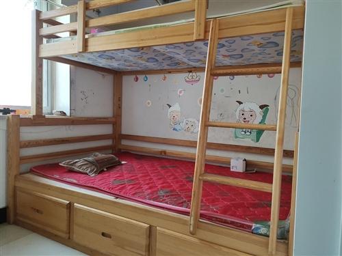 自提,實木高低床床