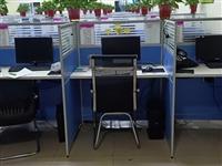 工位桌子,15套,8成新绿色!有意向全拉走!主要我们都换成统一蓝色了!