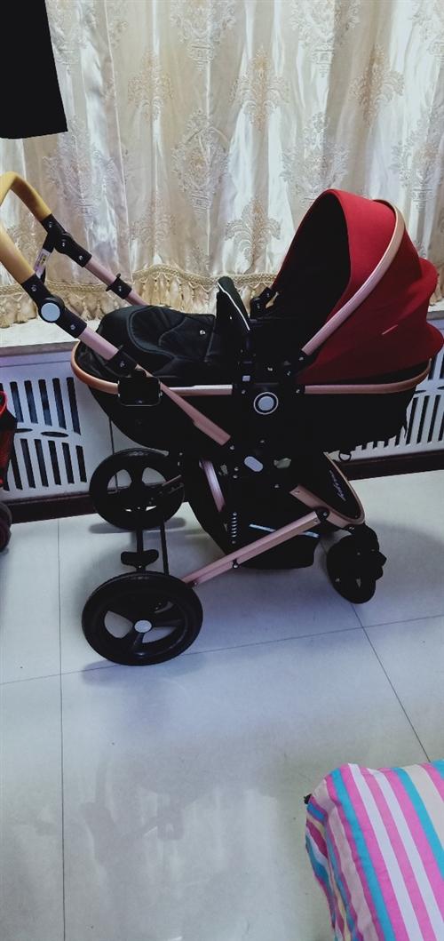 現有一99成新高景觀嬰兒推車,由于買回來孩子不坐,就推出去過兩次,現180轉給有需要的人!