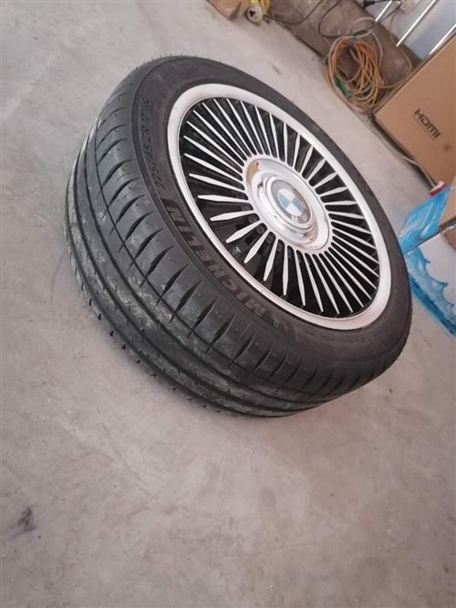 米奇林寶馬輪胎,車賣了,新的沒用過,10000多買的,不用了現價6000元,可調價,喜歡的私