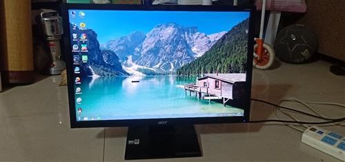 品牌宏基显示器22英寸 品牌质量有保障 未拆过机 未修过 支持挂在墙上 VGA 和 DVI