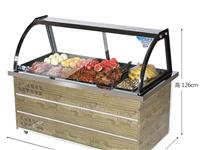冰箱展示柜,适用于鸭脖,水果,蔬菜,肉类,蛋糕展示,上面展示柜下面冷藏速冻,相当于两个冰箱,分开插电...
