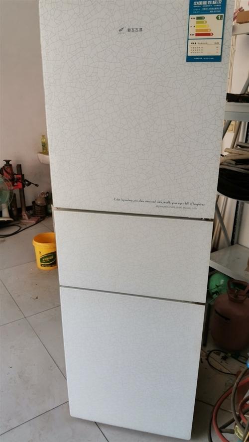 低價出售新飛三開門冰箱221升