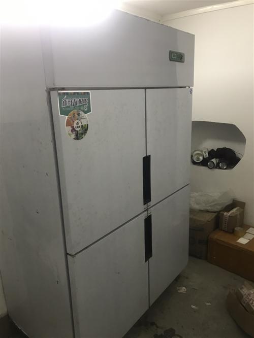 商用四门冰箱,只用1年,