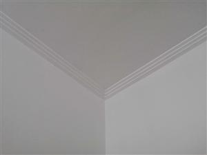 石膏线装饰,自制影视墙