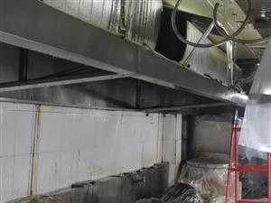 专业清洗酒店食堂油烟管道净化器风机风柜排烟罩