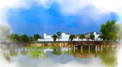 清水穿村而过,人工湖碧波荡漾,洛阳新安县渠里村沧桑巨变
