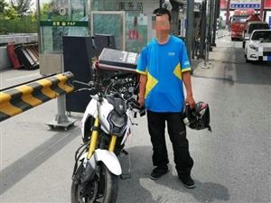 车无牌,人无证摩托车行客户端路,终被查获
