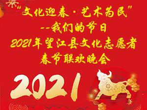 """""""文化迎春・艺术为民""""2021年望江县文化志愿者春节联欢晚会"""