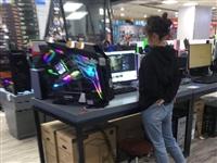 电脑店女老板的姿势太有技术含量了,我试了几遍都学不好,你试试看!