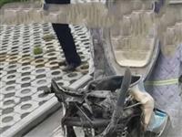 听说南湖玫瑰湾一业主电动车自燃,烧成了这个样,这是真的吗?