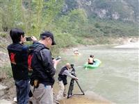 大型纪录片《嘉陵江》摄制组来徽县取景拍摄