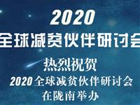 """2020全球减贫伙伴研讨会"""" 将于11月24日在陇南举行"""
