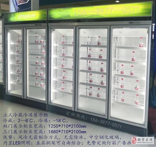 鶴壁立式雙門三門冷藏冷凍展示柜定做