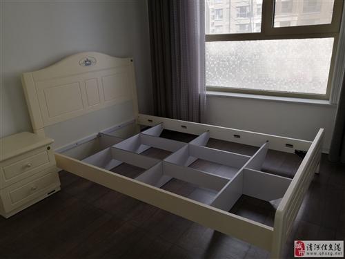 全友牌儿童床+全友厚床垫9.5新1.2米*2米