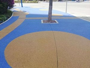 陕西榆林路面改色剂色彩改变从喷涂开始