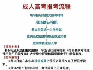 2020年江西成人高考报名学校和流程