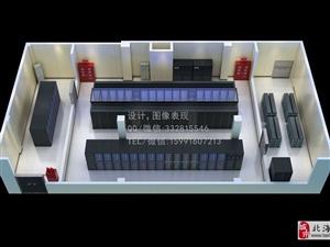 上海某电力大厦机房效果图制作 自然博物馆机房改造