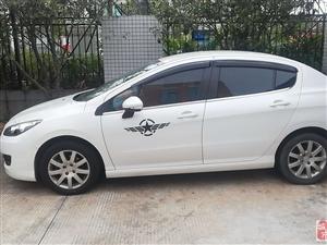 低價急售標致308白色轎車一輛