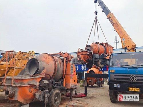 二手拖泵带搅拌一体机,工地完工转让处理