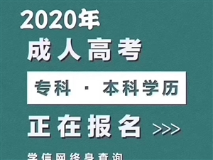 2020年全國成人高考學歷報考簡章