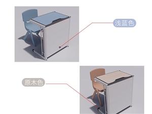 輔導班課桌椅批發,單人課桌可展開成午休床