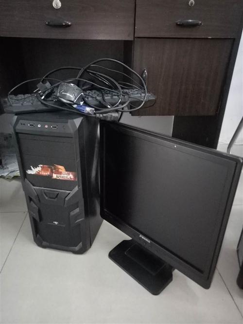 電腦+顯示器+鍵盤鼠標200元