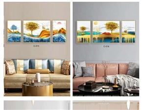 批发壁纸壁布电视墙各种晶瓷画实木地板