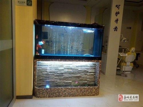 出售9成新流水瀑布造景魚缸
