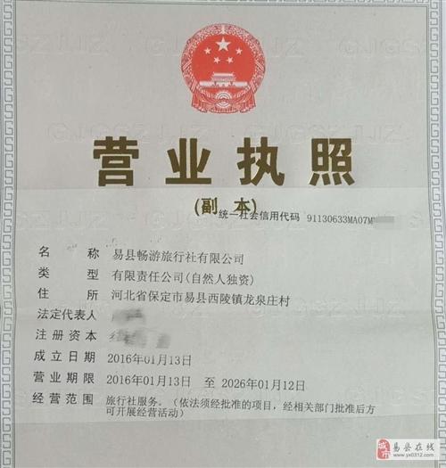 出租&#8226转让,易县畅游旅行社有限公司
