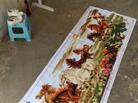 八骏图十字绣绣好长两米四宽八十六公分580元!