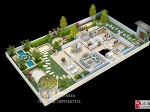 跃层 复式 别墅3D户型图制作 全景环视效果图