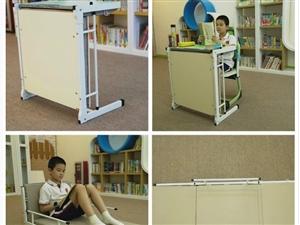 托管輔導班專用課桌椅-推薦貝德思科課桌-桌床一體