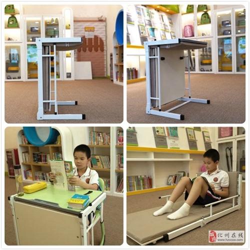 托管班学生课桌,课桌可展开成床,课室轻松变休息室