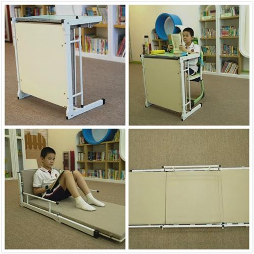 单人学生课桌,中小学托管辅导班课桌,能变床的课桌