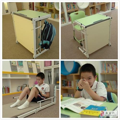 學生午休床廠家直銷,可折成課桌,學息兩用